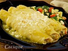 Mexican Seafood dish to die for: Shrimp and Crab Enchiladas Mexican Seafood, Seafood Dinner, Mexican Dishes, Mexican Cheese, Seafood Gumbo, Fish Dishes, Crab Enchiladas Recipe, Seafood Enchiladas, Mexican Food Recipes