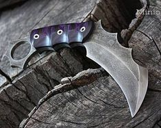 """Handcrafted FOF """"Minion mod"""", survival, defense or tactical karambit blade"""