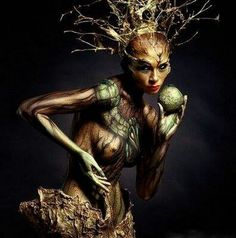 Forest Nymph body art.