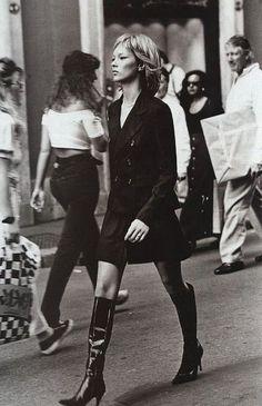 Kate Moss by Peter Lindbergh for Harper's Bazaar September 1994