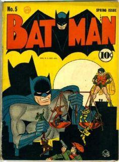 Golden Age Batman Comic Book Covers #1-5
