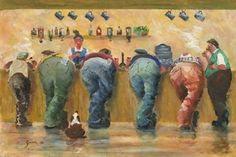 Image of 'Down At The Pub' Giclee Canvas