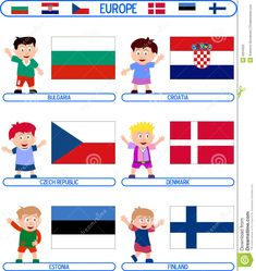 Learn to Paint Like a Child – Learn How To Draw Flag Drawing, Flags Europe, Flags Of The World, Painting For Kids, Learn To Draw, Pencil Drawings, Royalty Free Stock Photos, Kids Rugs, Cartoon