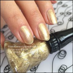 Anna Sui Nail Color G802 Metallic Gold. Tonnes of swatches at imabeautygeek.com