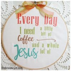 Machine Embroidery Frameable Word Art - Embroidery It