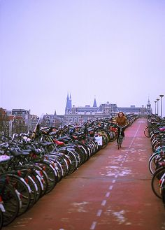 Amsterdam; I'll never forget that my bike cap got stolen on my way to class in the Netherlands...