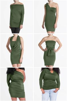 The Calla Midi Convertible Dress is super versatile! With over 7 ways to style it you'll never run out of options. It flatters all body types and comes in sizes Convertible Clothing, Convertible Dress, Beautiful Outfits, Cool Outfits, Travel Dress, Travel Outfits, Calla, Infinity Dress, How To Make Clothes