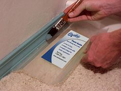 I need this!!!! Designed by a professional painter, the guide uses angled edges to make it easier to paint without spending time masking. Made from durable acrylic, easy to clean. The angled design has the benefit of making the guide easier to hold and allows you to get at those tough spots when edging or painting trim. It also slides with ease between your baseboard and carpet.""