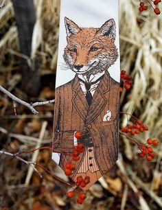 Dapper Fox Necktie - Men's Fox Tie