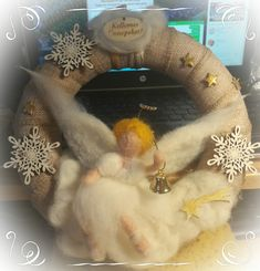 Needle felted angel #christmas # angel #needlefelted