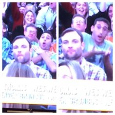 Marc Bertrand @Marc_Bertrand  @Wayne Monk This New Yorker at the Knicks game is making fun of Welker for being a choker who drops passes.