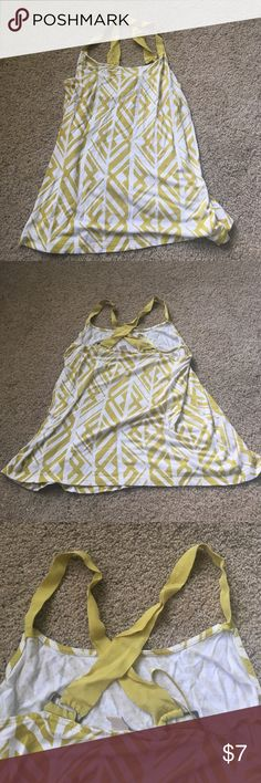 Cross Back Tank Gently used, in good condition. *allergy alert* I have two cats and am a smoker. Banana Republic Tops Tank Tops