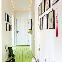 Green floor...