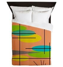 Atomic Era Abstract Queen Duvet for