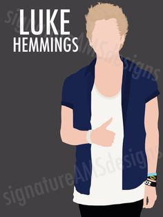 Minimalist Digital Artwork of 5 SECONDS OF SUMMER Band Member, Luke Hemmings. (11.7x16.5 inches / A3)
