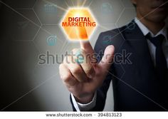 pressing button touch screen interface and select DIGITAL MARKETING.