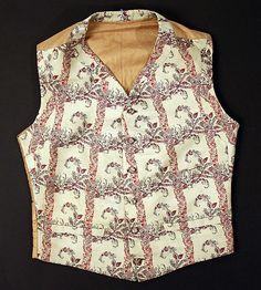 Waistcoat, early 19th century, British, wool and silk.