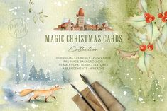 NEW SALE! Magic Winter Watercolors