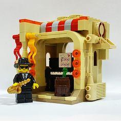 Jazz Musician: The Jazz Corner Lego Minifigure, Lego Technic, Awesome Lego, Cool Lego, Lego Furniture, Brick In The Wall, Lego Mecha, Lego Modular, Lego News