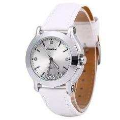 SHARE & Get it FREE | Sinobi 9276 Female Fashionable Crystal Quartz Watch…