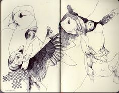 These particular abstract sketches have been taken from the sketchbook of Donny Nguyen. It is within the more focused areas of Nguyens sketching that his true skill is revealed.