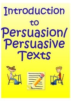 Introduction to Persuasion / Persuasive Texts  This comprehensive, all-inclusive, no-prep-necessary lesson plan introduces students to persuasive texts. It helps students identify claims and supporting reasons in an article. It is a great way to introduce students to persuasive reading and writing!!  It includes: 1. Warm-up  2. Quick write  3. Guided Notes 4. Video Practice 5. Reading Practice (2 articles; paired selection) 6. Graphic organizer/outline 7. Comprehension Questions 8. Answer…