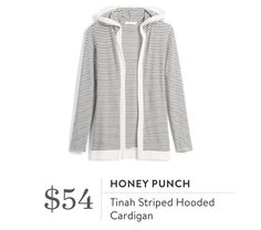Honey Punch Tina Striped Hooded Cardigan