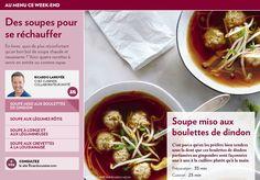 Des soupes pour se réchauffer - La Presse+ Confort Food, Christmas Recipes, Ramen, Nutrition, Foods, Cooking, Ethnic Recipes, Dumplings, Cream Soups