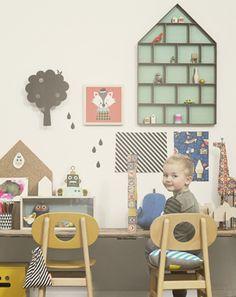 Applique murale enfant en bois plaqu� ch�ne Arbre Ferm Living