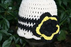 Adorable Crochet Cotton Childrens Hat Fun by BlissfulFiber on Etsy, $8.00