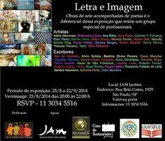 25/08 à 22/09 ♥ Exposição LETRA & IMAGEM ♥ SP ♥  http://paulabarrozo.blogspot.com.br/2014/08/2508-2209-exposicao-letra-imagem-sp.html