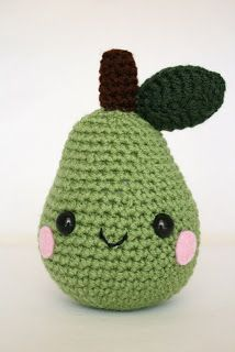 "Amigurumi fruit will always have a special place in my heart. The first amigurumi I ever made was an apple from ""Amigurumi World..."