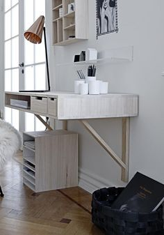 Image result for wall hung desk