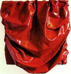 Loose Fit VII (Red) 2000 Oil on canvas 150 x 140cm. Angela De La Cruz . Red. S)