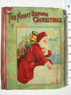 Old Night Before Christmas Santa Book Christmas Time Is Here, Old Christmas, Old Fashioned Christmas, The Night Before Christmas, Antique Christmas, Christmas Paper, Christmas Movies, Christmas Pictures, Father Christmas