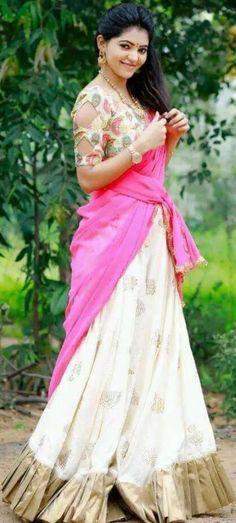 Kannada Movies, Tamil Movies, South Actress, South Indian Actress, Tamil Actress Photos, Telugu Cinema, Half Saree, Trending Topics, Lehenga