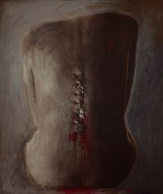 """""""Beden-im""""2007 - 2008 Wound Series Mixed Media on Panel 126x105 cm  #art #artist #contemporary #contemporaryart #contemporaryartist #ismetdogan"""