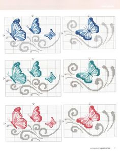 Baby Cross Stitch Patterns, Cross Stitch Borders, Hand Embroidery Patterns, Cross Stitch Designs, Cross Stitching, Cross Stitch Embroidery, Butterfly Cross Stitch, Cross Stitch Rose, Cross Stitch Baby