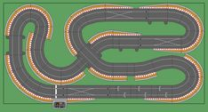 New Digital Track Designs - Page 9 - Tracks & Scenery - SlotForum Rc Car Track, Slot Car Race Track, Ho Slot Cars, Slot Car Racing, Slot Car Tracks, Race Tracks, Scalextric Digital, Scalextric Track, Carrera Slot Cars