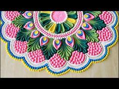 Top Krishna janmashtami rangoli designs with colours l जानिए कैसे बनाएं . Easy Rangoli Designs Diwali, Indian Rangoli Designs, Simple Rangoli Designs Images, Rangoli Designs Latest, Rangoli Designs Flower, Free Hand Rangoli Design, Small Rangoli Design, Rangoli Ideas, Rangoli Designs With Dots