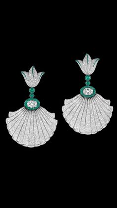 Emeralds and diamonds -De Grisogono luxury jewelry #Luxurydotcom