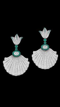 Emeralds and diamonds -De Grisogono luxury jewelry #Luxurydotcom