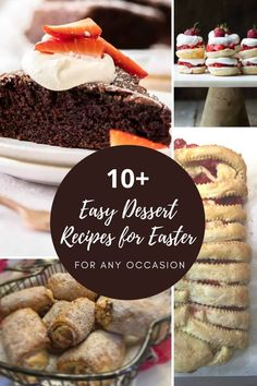 With this list of 10 Easy Dessert Recipes for Special Occasions like Easter or Christmas, you won't need to go nuts finding that perfect dessert. #happyeaster #love #easterbunny #spring #chocolate #food #cake #foodporn #yummy #foodie #delicious #chocolove #tasty #darkchocolate #chocolateganache Easy Desserts, Dessert Recipes, Chocolate Food, Your Recipe, Make It Simple, Delish, Dinners, Food Porn, Good Food