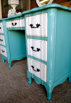 Laura Camry Boutique  French desk with Annie Sloan/province paint. http://www.facebook.com/lauracamryboutique