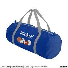 CUSTOM Sports Duffle Bag GIFT PERSONALIZED Gym Duffel Bag