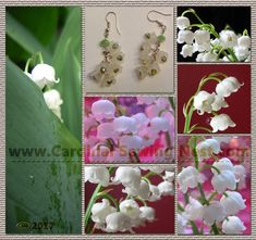 Lily of the valley bespoke earrings