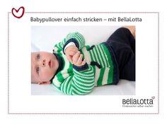 Babypullover einfach stricken - Stricken lernen für Anfänger - YouTube