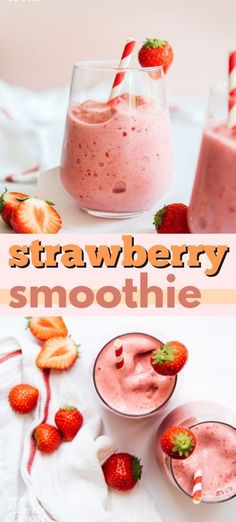A simple Strawberry Smoothie just 4 ingredients and ready in 5 minutes Perfect for satisfying that morning sweet tooth while staying healthy strawberry strawberrysmoothie smoothie smoothierecipes breakfast healthy healthybreakfast honey summerdrinks Apple Smoothies, Easy Smoothies, Smoothie Recipes, Smoothie Drinks, Breakfast Recipes, Breakfast Healthy, Strawberry Breakfast, Simple Strawberry Smoothie, Breakfast Smoothies