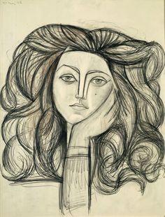 """Pablo Picasso, """"Portrait de Françoise"""" © RMN-Grand Palais (musée Picasso de…"""