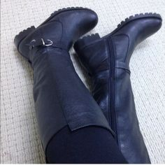 🆑 50% OFF🔴New Leather Boots New leather black tall boots. Brand new Shoes